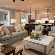 Traditional Living Room by Shoreline Construction and Development