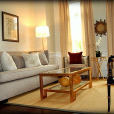 Traditional Living Room by Leslie Stephens Design
