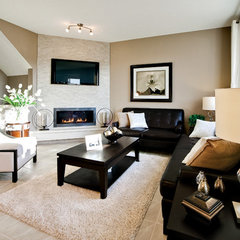 contemporary living room by Shane Homes Ltd.