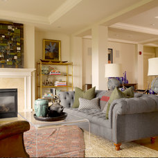 Eclectic Living Room by BRIAN PAQUETTE INTERIORS