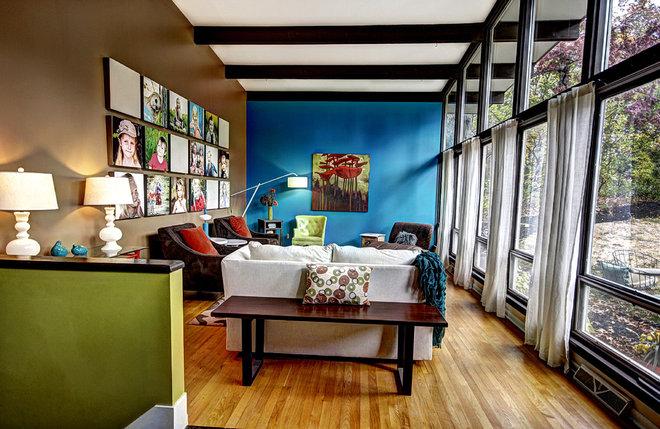 Midcentury Living Room by Mindi Freng Designs