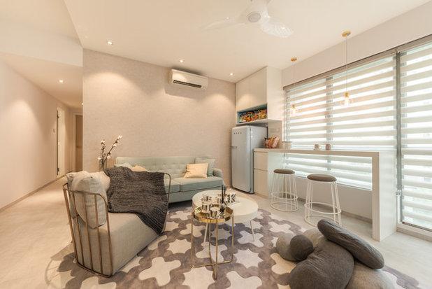 Contemporary Living Room by Mr Shopper Studio