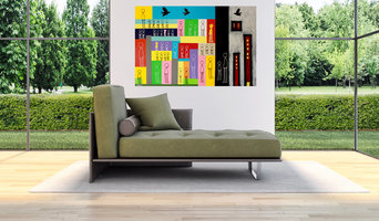"""""""The Future Is Coming"""" by Doron Noyman in a room setting - SOLD"""