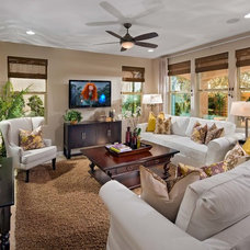Traditional Living Room by Danielian Associates Architecture + Planning