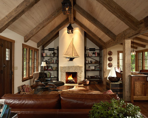 Ceiling beams home design ideas pictures remodel and decor - Living room ceiling beams ...
