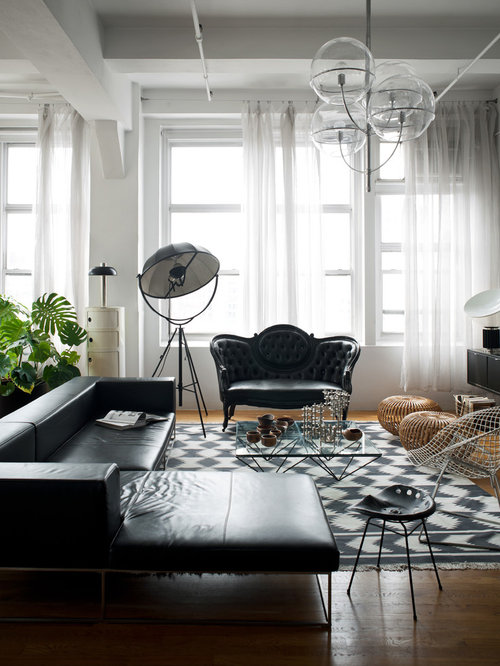 Modern Black Living Room Furniture | Houzz