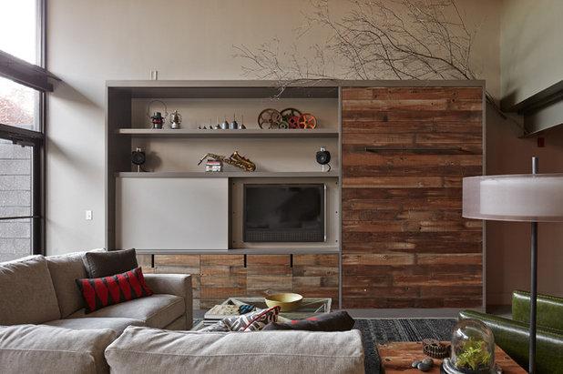 Industrielt Dagligstue by lisa schmitz interior design