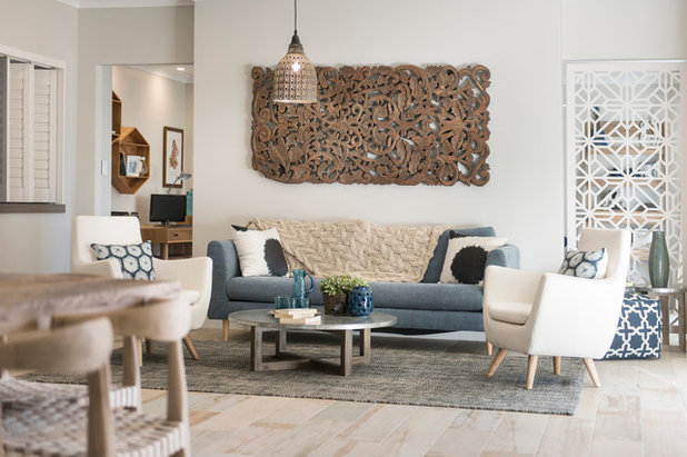 Beach Style Living Room by Jodie Cooper Design