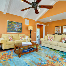 Tropical Living Room by Schell Brothers