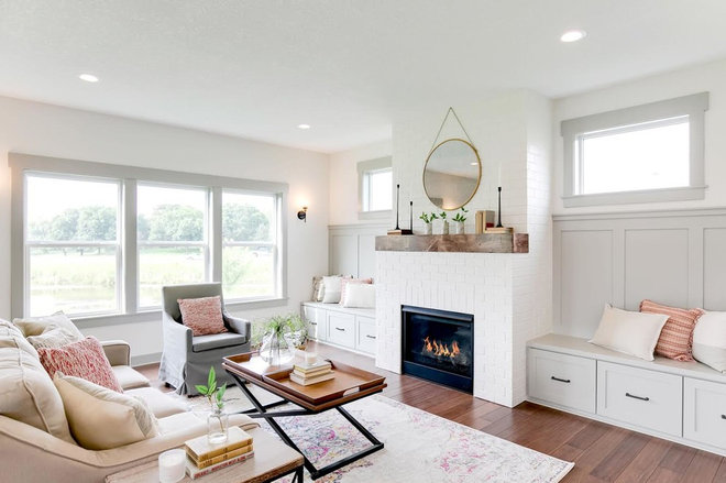 Transitional Living Room by Precision Homes