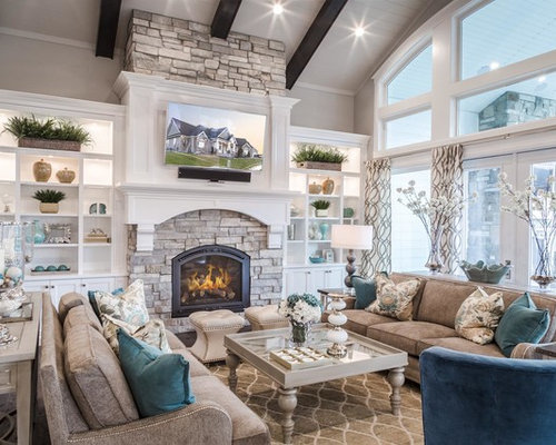 Rustic living room design ideas remodels photos houzz for Living room ideas rustic