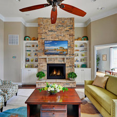 Traditional Living Room by Schell Brothers