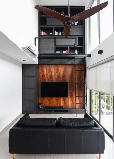 Industrial Living Room by Mesh Werk Studio
