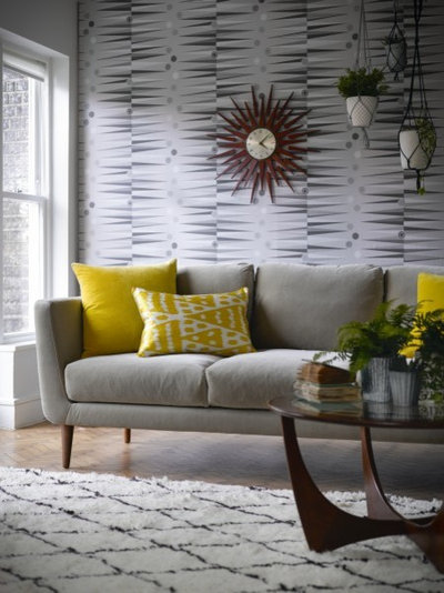 Trends 12 ways to bring houseplants into your home for Grey couch yellow walls