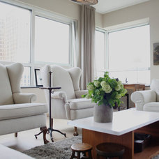 Transitional Living Room by Holly Marder