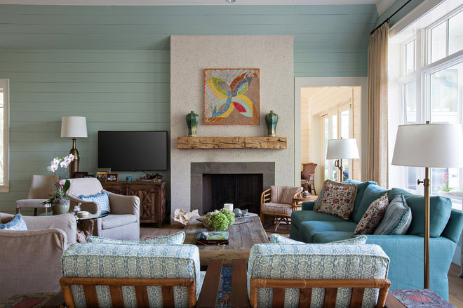 Traditional Living Room by Crosby Creations Drafting & Design Services, LLC