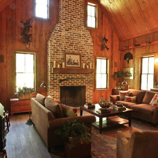 Rustic Living Room by Margaret Donaldson Interiors