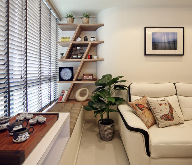 Eclectic Living Room by The Interior Place (S) Pte Ltd
