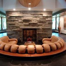 Contemporary Living Room by Artwork