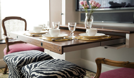 Double Take: Disappearing Table Gives 1 Room 3 Uses