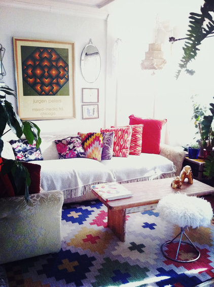 Eclectic Living Room by Justina Blakeney