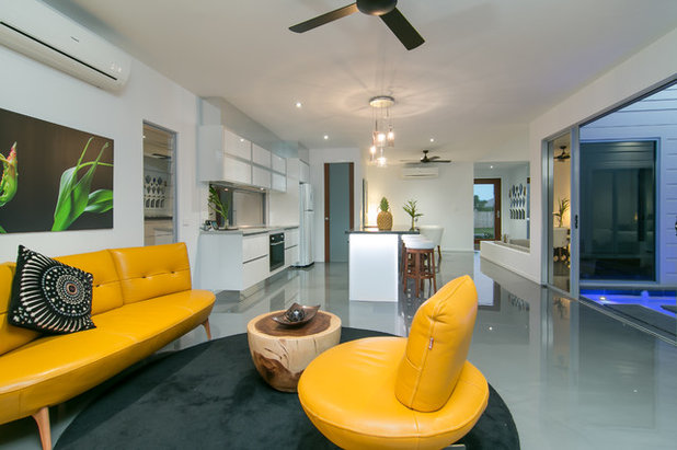 Contemporary Living Room by Kenick Constructions