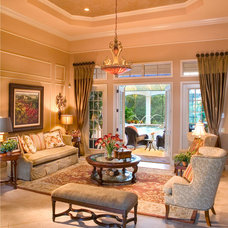 Mediterranean Living Room by John Cannon Homes