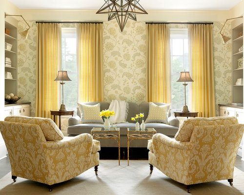 SaveEmail - Gray And Yellow Living Room Houzz