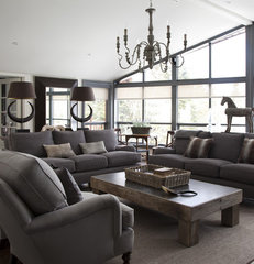 contemporary living room by Rollande Vachon owner of Moutarde Décor