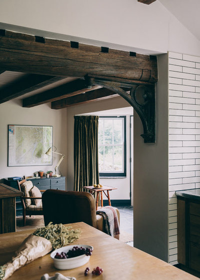 Rustic Living Room by Field Day Studio