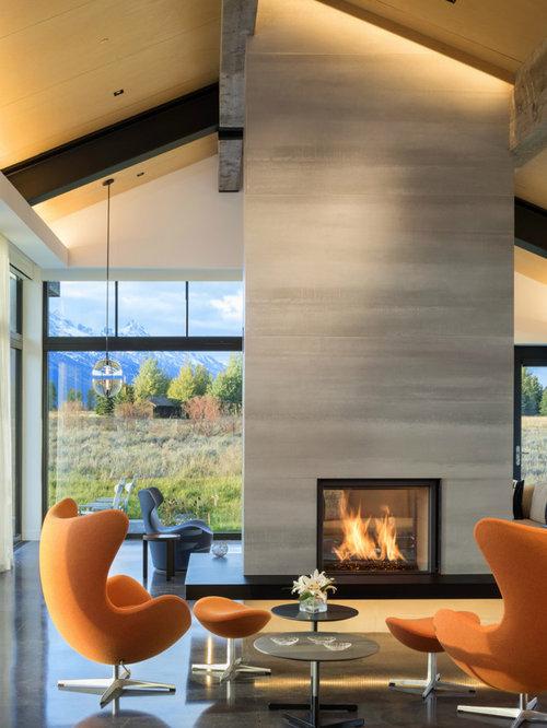 Contemporary Fireplace Ideas | Houzz