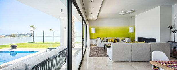 Contemporáneo Salón The latest ideas for a sunny Villa