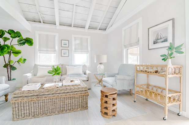 Beach Style Living Room by Blakely Interior Design