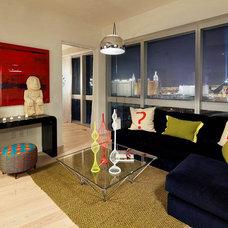 Contemporary Living Room by Nadia Geller Designs