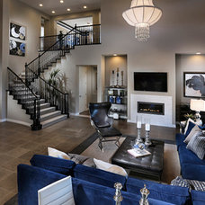 Contemporary Living Room by Ambrosia Interior Design, Inc.