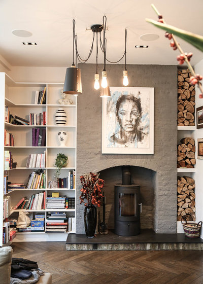 Contemporary Living Room by Vogue Kitchens