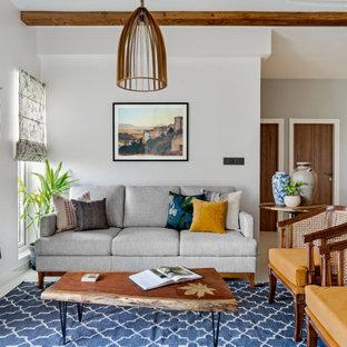 Photo of a mediterranean family room in Bengaluru.