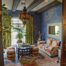 Mediterranean Living Room by Peridot Decorators, Inc.