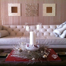 Eclectic Living Room by Lina Crawford Interior Design