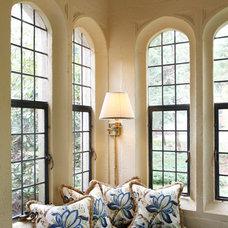 Traditional Living Room by Deborah Leamann