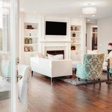 Traditional Living Room by Axiom Luxury Homes