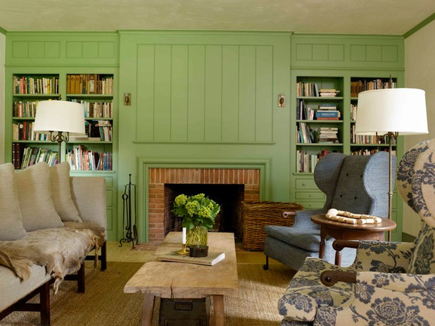 Farmhouse Living Room by Hendricks Churchill