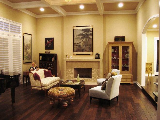 Contemporary Living Room by Elaine Morrison Interiors
