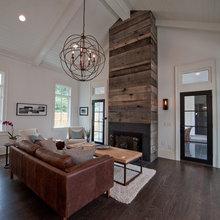 Barnwood Fireplace