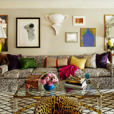 Eclectic Living Room by Robert Passal Interior & Architectural Design