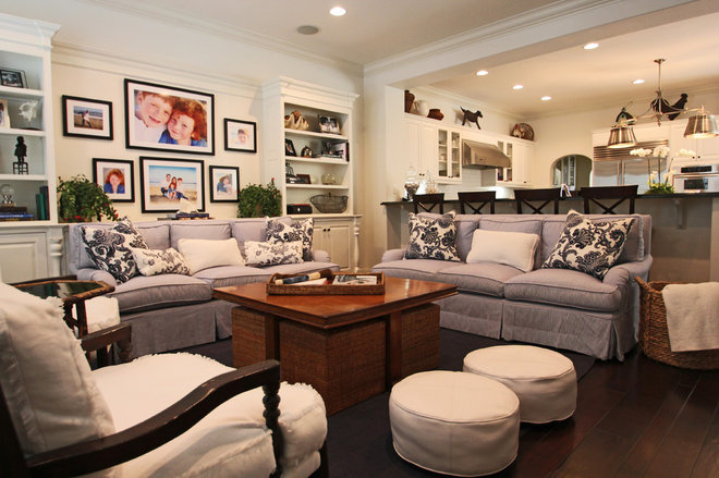 Contemporary Living Room by Kirsten Marie Inc, KMI