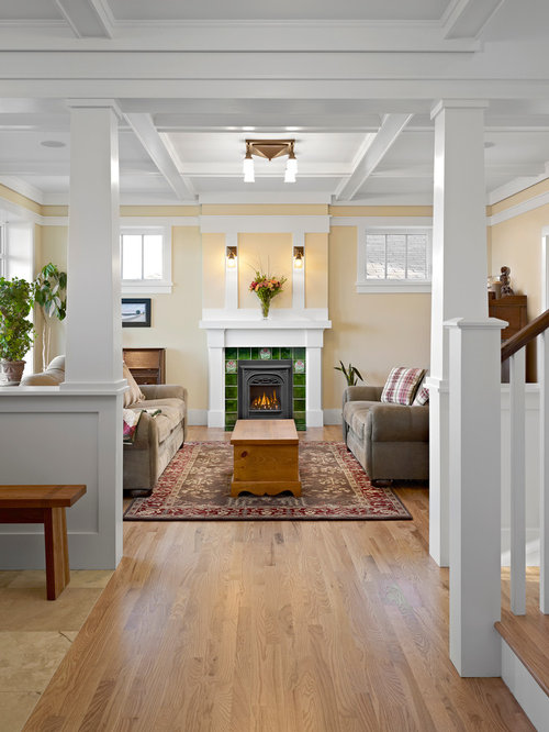 Example Of A Mid Sized Arts And Crafts Light Wood Floor Hallway Design In  Edmonton Part 43