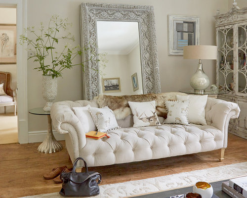 Shabby Chic Style Living Room Design Ideas Renovations Photos