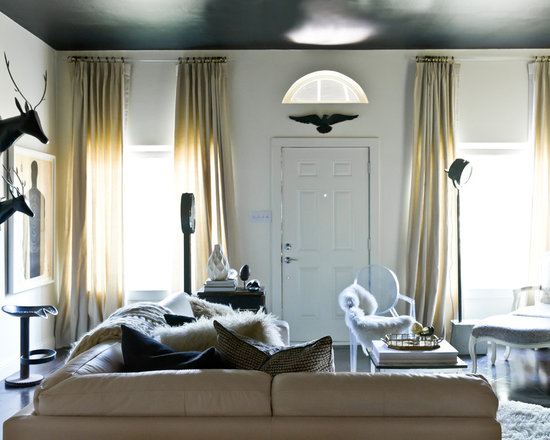 Black And Gold Curtains Houzz