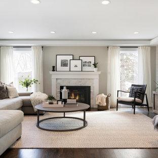 Living Room With Beige Walls